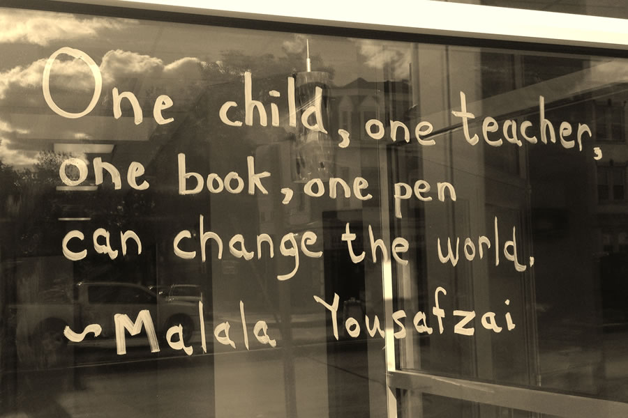 One child, one teacher, one book, one pen, can change the world | Malala Yousafzai